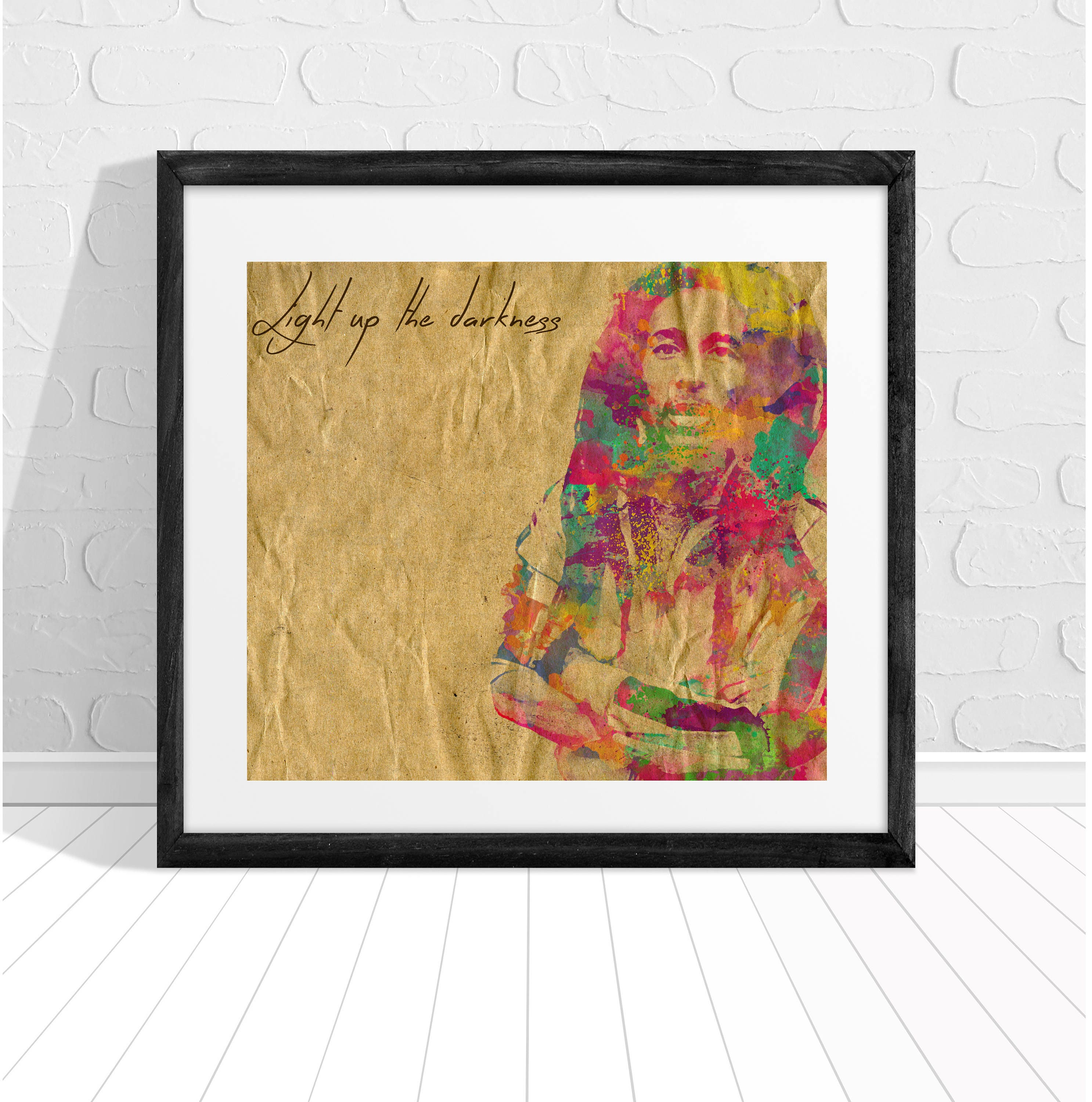 Bob Marley Light up the Darkness Quote Print | Etsy