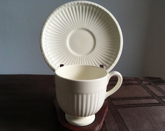 Footed Cup and Saucer by Wedgwood