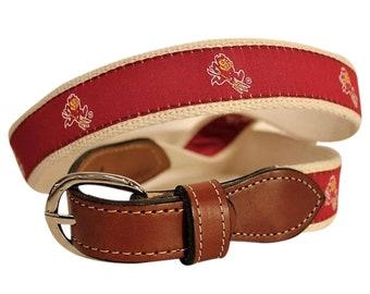 University of Arizonia State Sundevils Mens Web Leather Belt