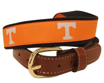 University of Tennessee Vols  Men's  Web Leather Belt