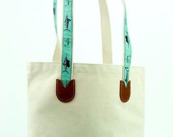 Guy Harvey Large Canvas Tote