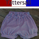 Banded Bubble Shorts Tattersall  Pick from over 30 color combinations Tatterall Bubble ShortsTTSEB080