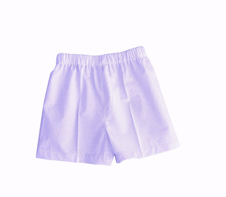 Windowpane Shorts Lined or UNLINED Red Brown Lilac Blue Pink image 0