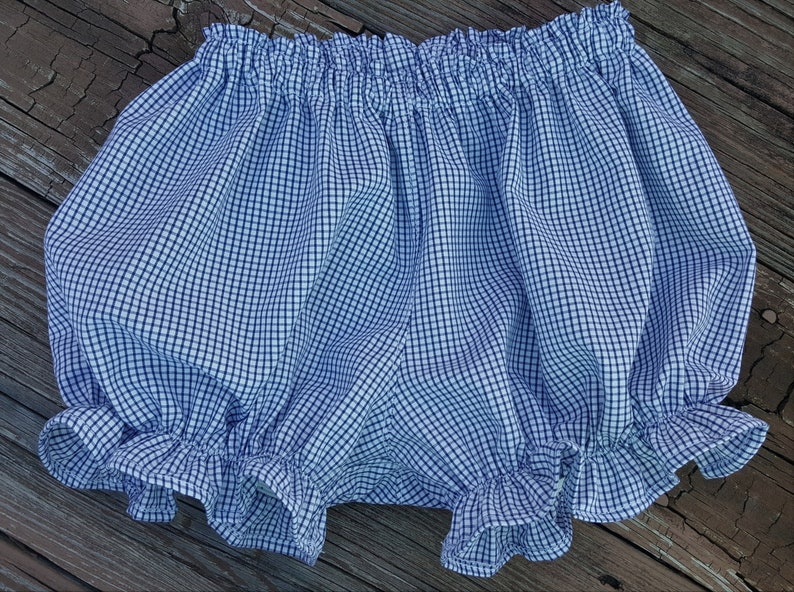 Elastic Leg Bubble Shorts Windowpane Choose Your Color image 0