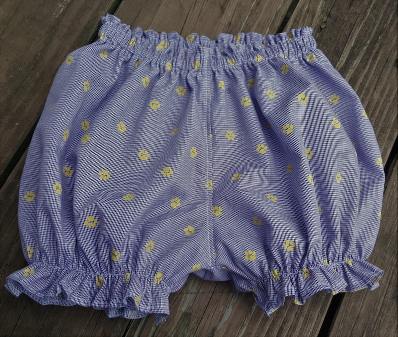 Elastic Leg Bubble Shorts Purple Gold Purple Microcheck image 0