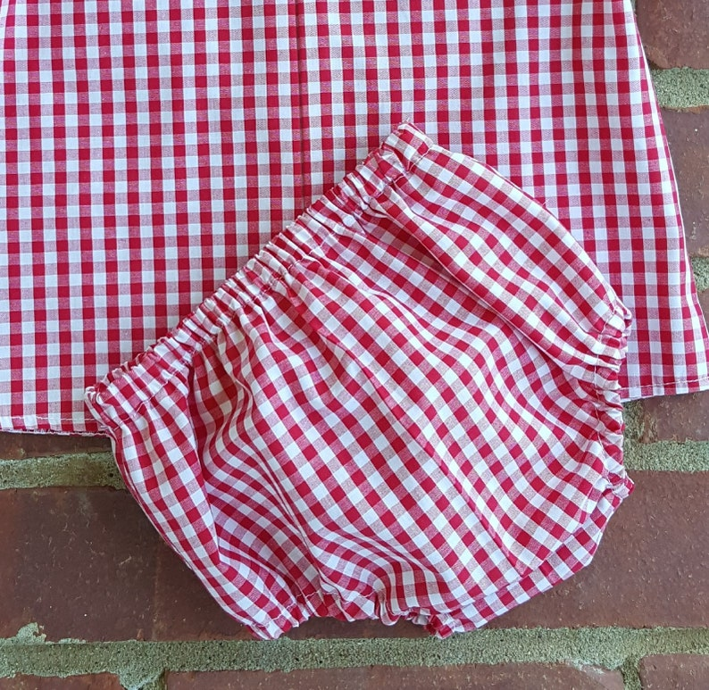 Diaper Cover 1/4 Gingham Pick your Color image 0