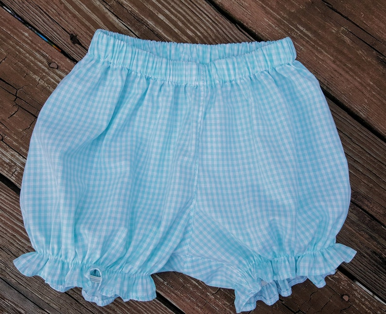Elastic Leg Bubble Shorts 1/8 Gingham yellow lime sprout image 0