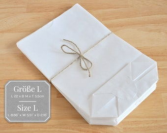 25 paper bags white L - 14 x 22 cm, bottom bags made of kraft paper, sustainable gift bags