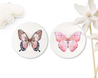 Sticker butterflies, motif of your choice, 40 mm, motif stickers animals, gift stickers for children