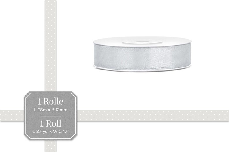 1 Rolle 45 m Doppel Satinband Band Satin 16 mm apricot 0,24 €//m