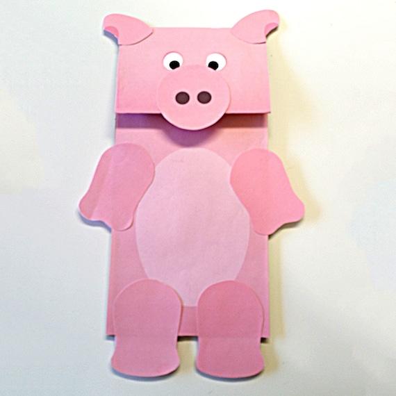 Arte de cerdo papel bolsa marioneta FULL COLOR PDF para