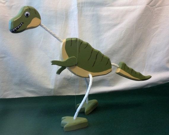 Wooden dinosaur puppet T-Rex