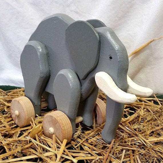 Children/'s Chunky en bois éléphant cadre photo en 2 couleurs et tailles