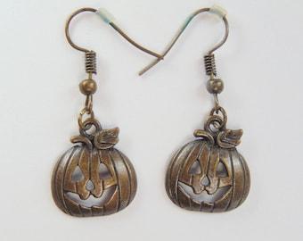 Happy Pumpkin Drop Earrings