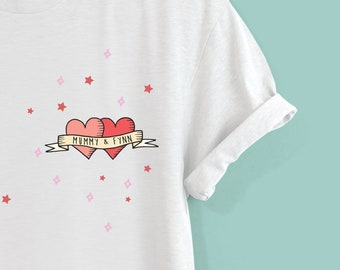 f47989c0a Personalised Honeymoon Tattoo Design Tshirt by Squiffy Print - Gifts for  the Bride - Wedding Gifts - Gifts for her - Gifts for friends