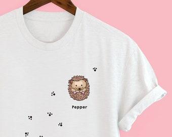 71eac4826 Personalised Hedgehog t-shirt - hedgehog illustration - Squiffy Print -  hedgehog mums - hedgehog dads