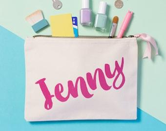 Personalised Cosmetic Bag - Gifts for Her - Makeup Pouch - Makeup bag - Squiffy Print - Custom cosmetic bag - Custom makeup Bag
