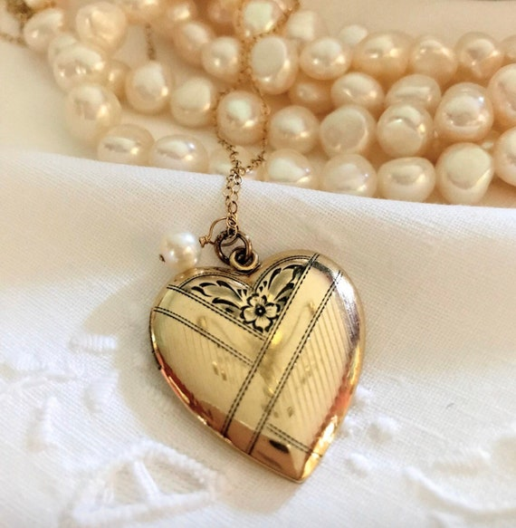 Large Gold Filled Heart Locket ~ Heart Locket ~ Th
