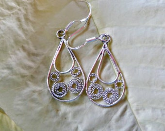 Sterling Silver Braided Dangle Earrings NBJ506