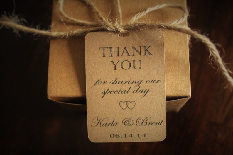 Personalized Wedding Favor Tags Wedding Thank You Tags thank you for sharing our special day