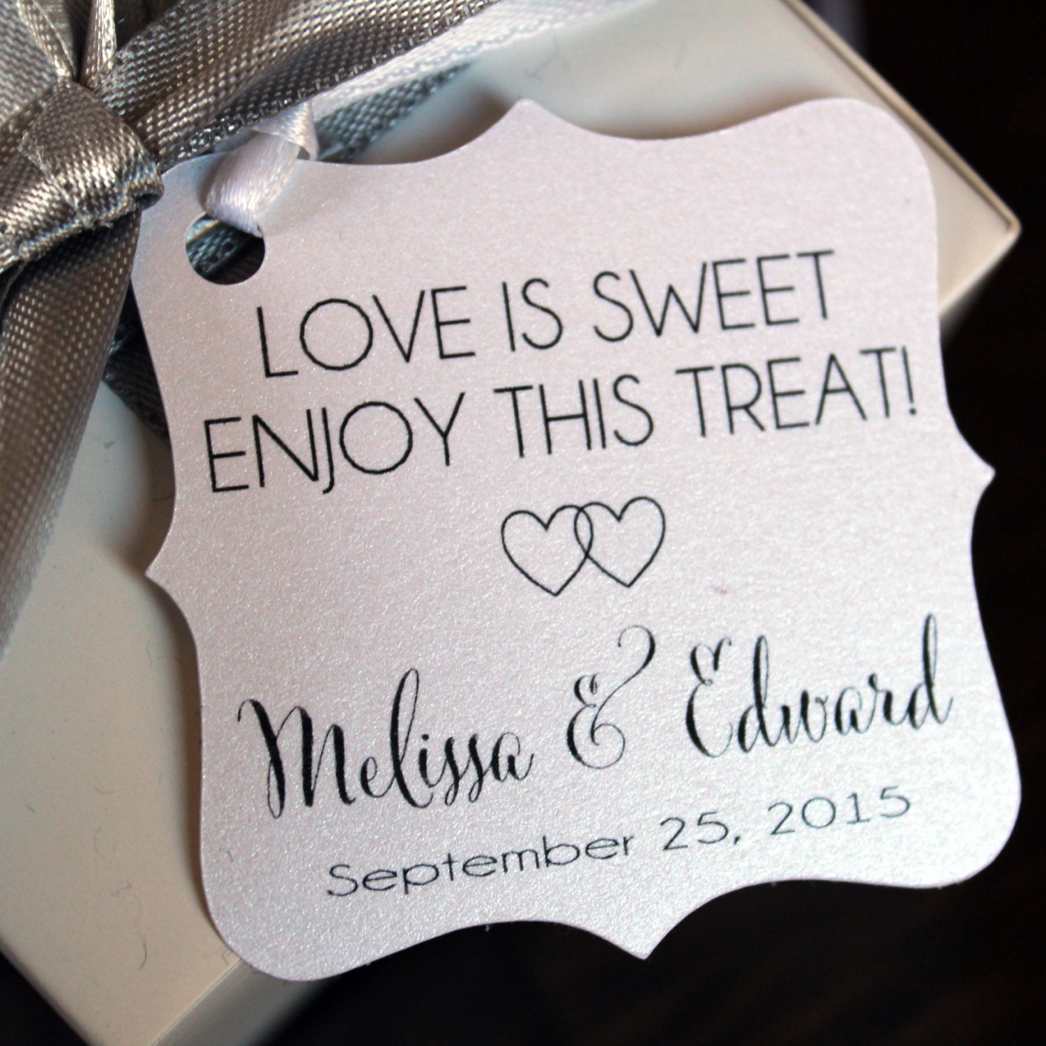 Love is Sweet Favor Tags - Wedding Favor Thank You Tags ...