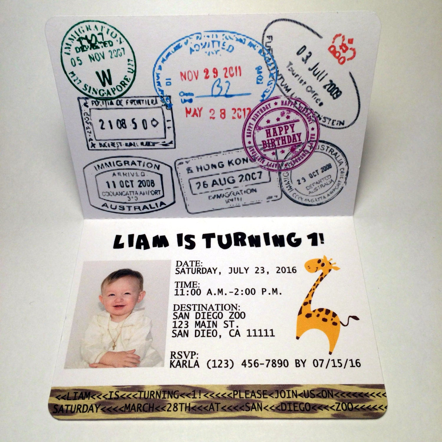 Sample passport to the jungle birthday invitation sample etsy zoom filmwisefo