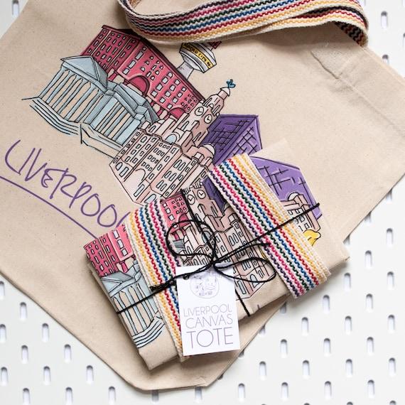 Liverpool Skyline Tote Bag, 100% Cotton