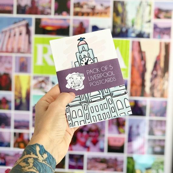 Liverpool Postcard Pack, Landmark Illustrations