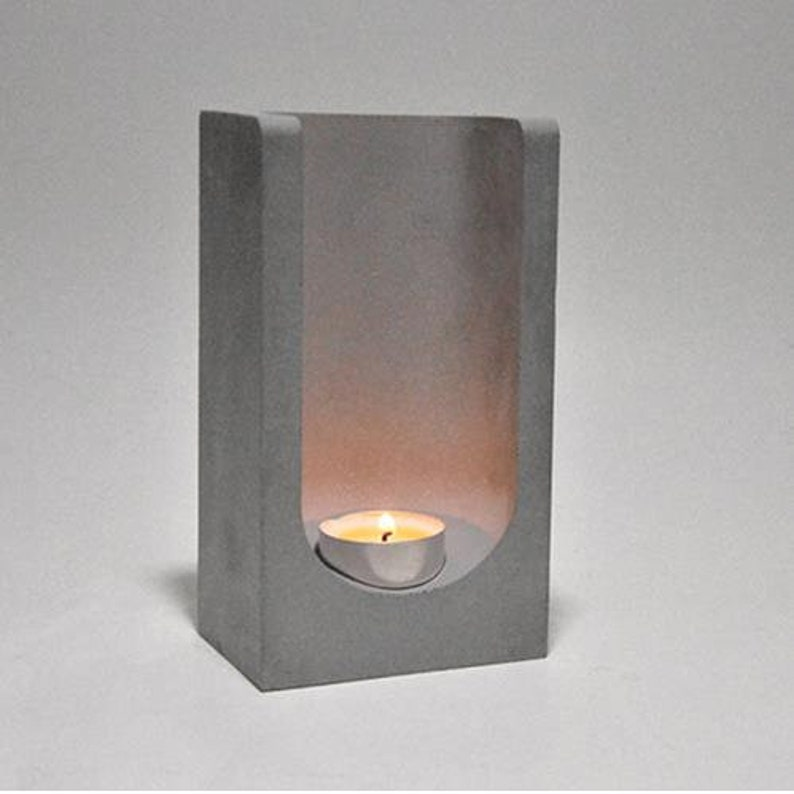 Creative concrete candle holder silicone mold cement planter candlestick  home office decoration aromatherapy candle cup molds