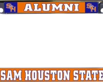 Sam Houston State University Alumni Glossy Print Chrome Frame