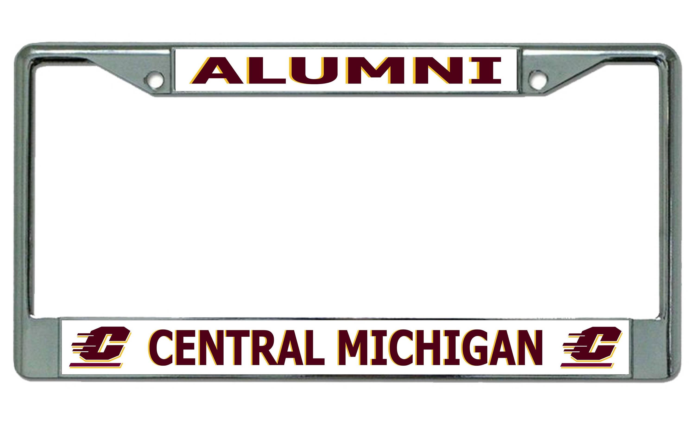 Central Michigan University Alumni Chrome License Plate Frame   Etsy