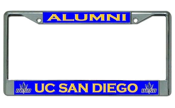 UC San Diego Alumni Chrome License Plate Frame | Etsy