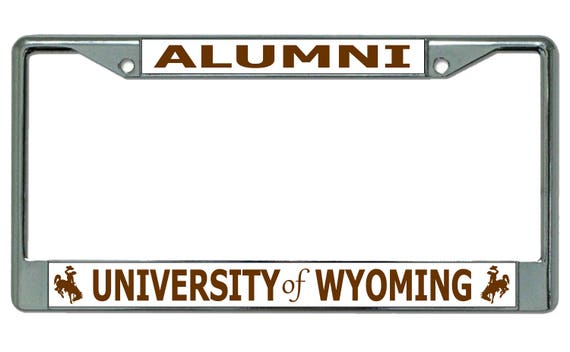 University Of Wyoming Brown Alumni Chrome License Plate Frame | Etsy