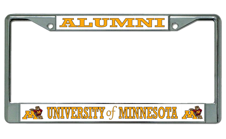 University of Michigan Alumni Chrome License Plate Frame   Etsy