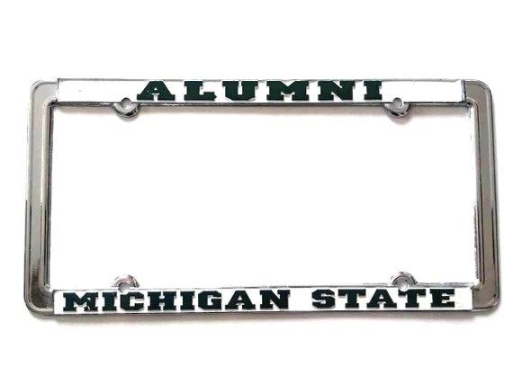 University of Michigan Alumni Glossy Print Chrome Frame