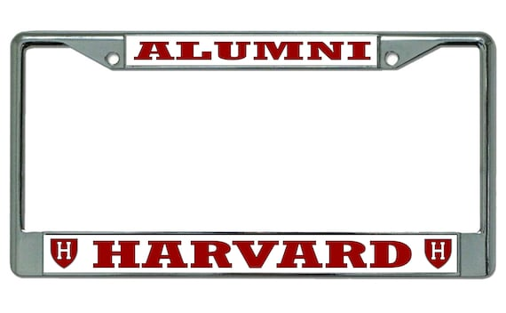 Harvard University H Logo Alumni Chrome License Plate Frame | Etsy