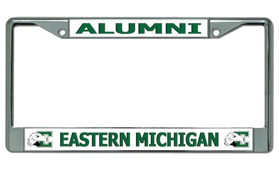 Eastern Michigan University Alumni Chrome License Plate Frame   Etsy