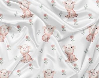 Printed Cuddle Minky watercolor snow cheetah Print snow cheetah minky fabric by the yard