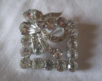 b558fa9f9 Beautiful Large Rhodium Plated Eisenberg Ice Brooch Rhinestones Large  Fantastic Pin Signed Jewelry WOW Piece Wedding Evening Jewelry