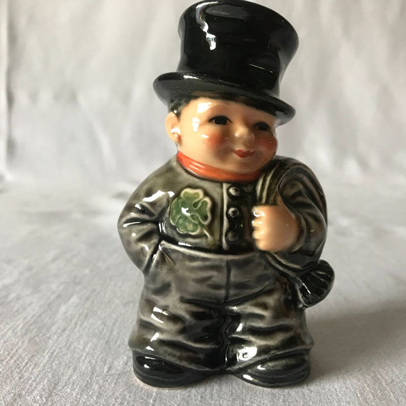 Vintage Goebel Irish Man Figurine With Shamrock Chimney Sweep Etsy