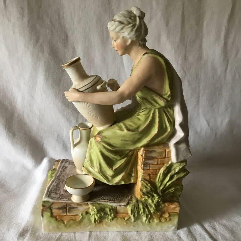 """New Large 19/"""" Hand Blown Art Glass Swirl Sculpture Figurine Statue Green"""