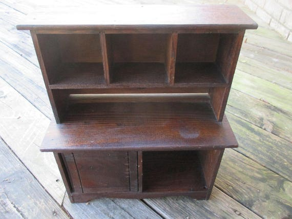 image 0 - Vintage Kitchen Hutch Cabinet Cass Toys Wooden Miniature Home Etsy
