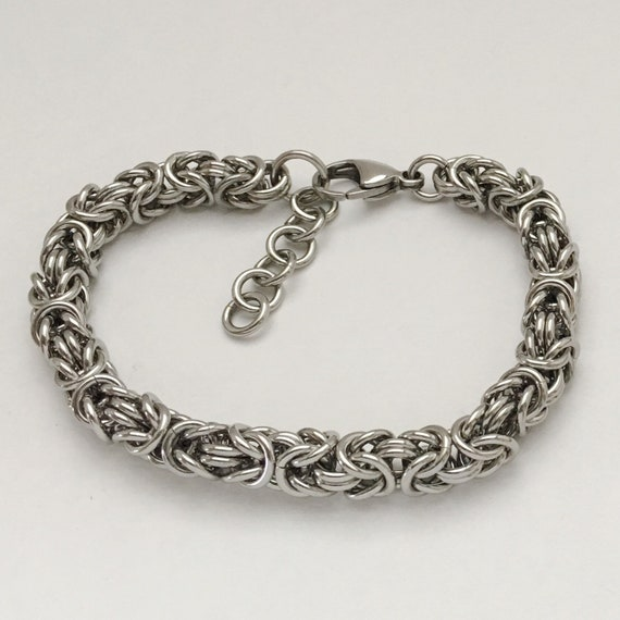 Stainless steel byzantine bracelet unisex everyday jewelry