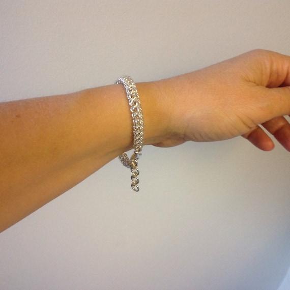 Persian 6-in-1 chain bracelet in 20 gauge Sterling Silver