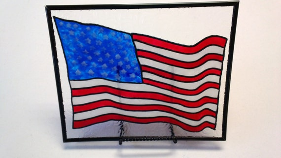 3bec1d499959 American Flag Sun Catcher 4th of July Patriotic