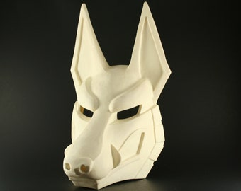 jackal mask resin blank diy mask blank kit custom halloween mask wolf mask kitsune fox mask egyptian anubis mask larp cosplay