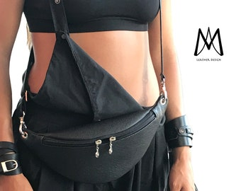 butt hip waist belly bum bag Leather fanny pack custom festival fanny pack small hip pouch travel unisex womens chic utility travel T35