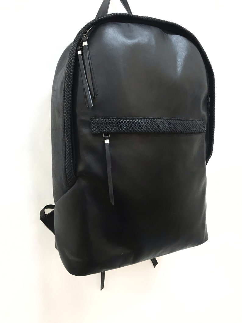 Big Leather Backpack Everyday Laptop Bag Leather Backpack For MenWomen Black Leather Bag Designer Backpack Large Black Backpack