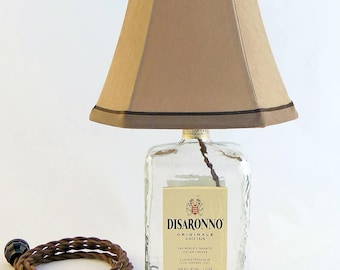 Disaronno Recycled Liquor Bottle Lamp
