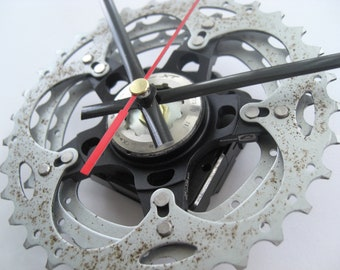 Shimano XT Time Shift Wall Clock Bicycle Cassette Sprocket, great gift for any Mountain Bike rider!